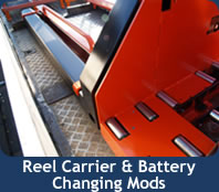 Reel Carrier & Battery Changing Mods
